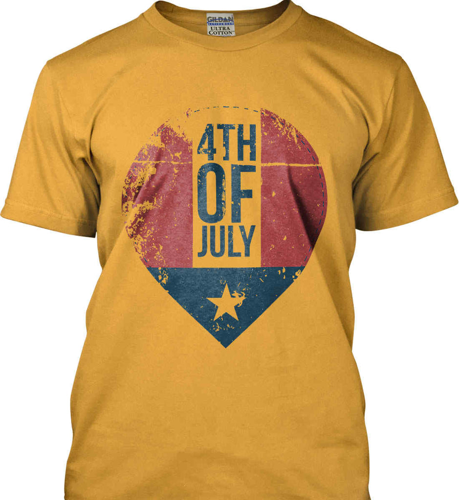 4th of July with Star. Gildan Ultra Cotton T-Shirt.-2