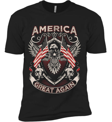 America. Great Again. Next Level Premium Short Sleeve T-Shirt.