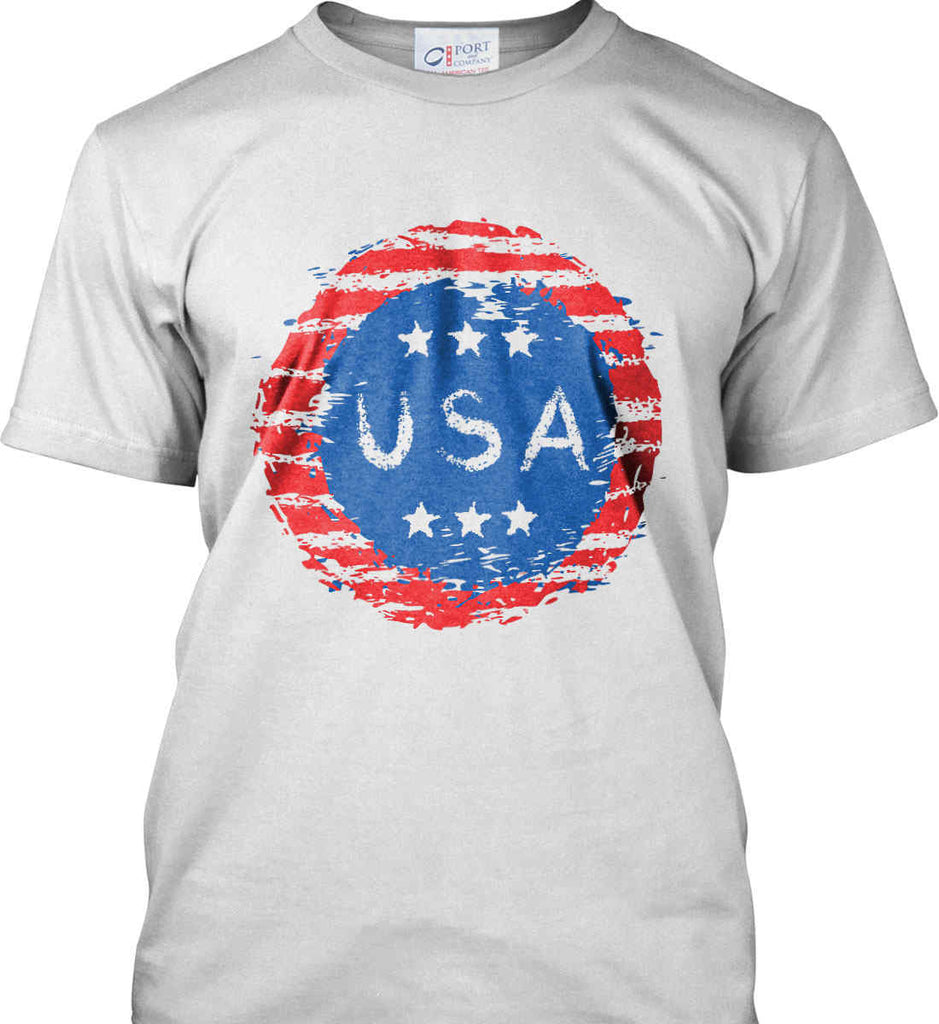 Grungy USA. Port & Co. Made in the USA T-Shirt.-2