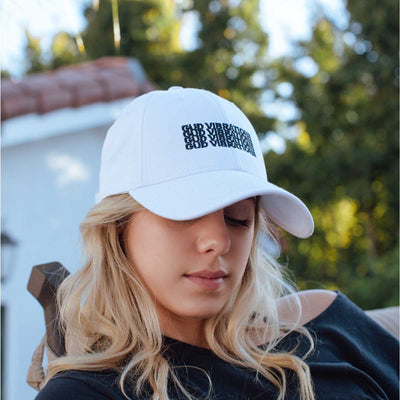 GUD Vibrations x4 Dad Hat - White