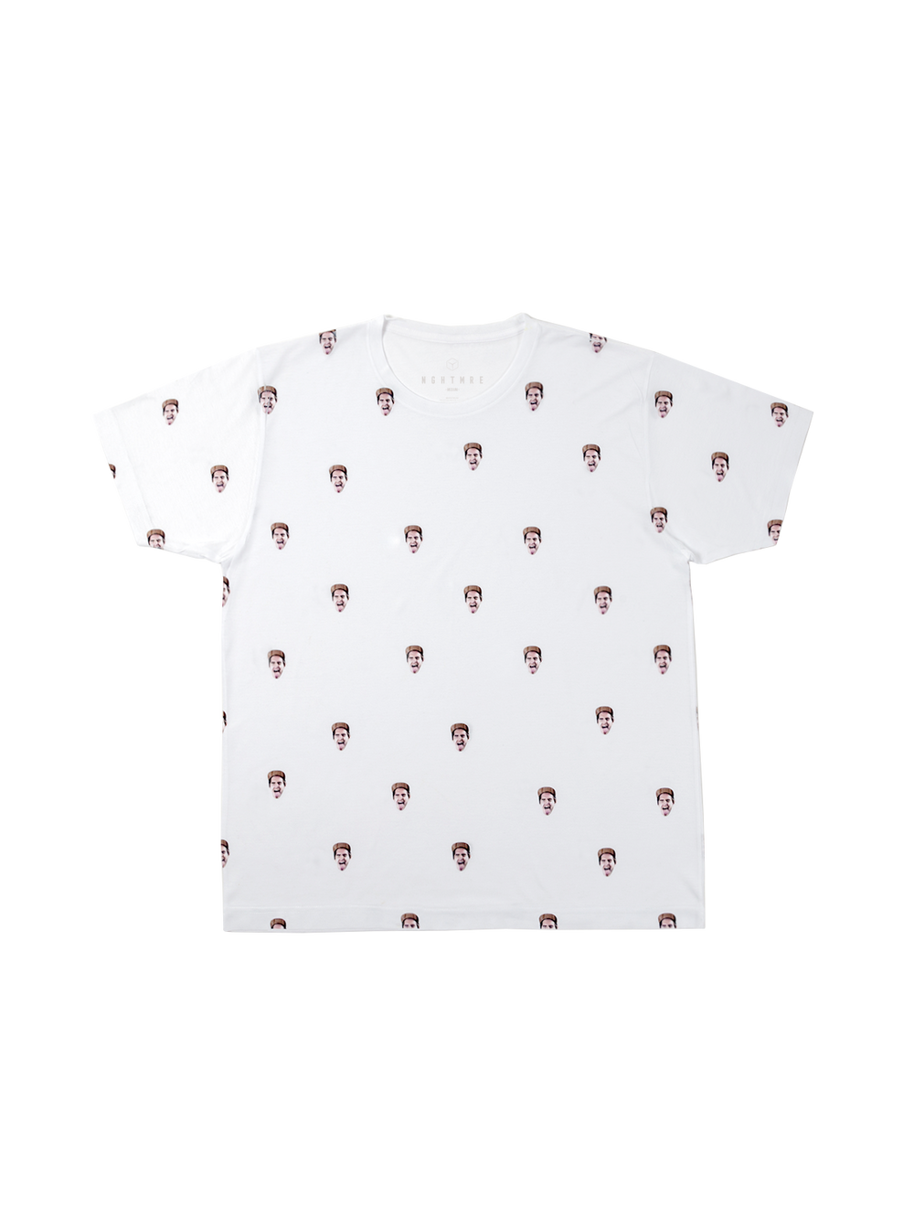 All-over Face Tee - White
