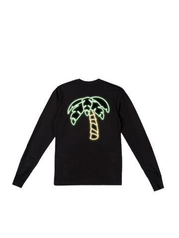 Neon Palm Long Sleeve - Black