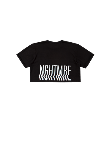 Oversized / Crop Female Tee - Black
