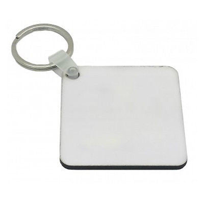 25 x Blank Sublimation MDF Key Rings 5cm x 5cm