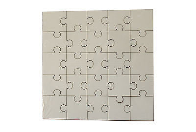 50 x  MDF Blank Sublimation Square Jigsaw Puzzle 17 cm x 17cm