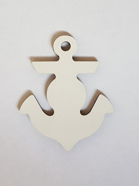 25 x Blank Sublimation MDF Key Rings Anchor