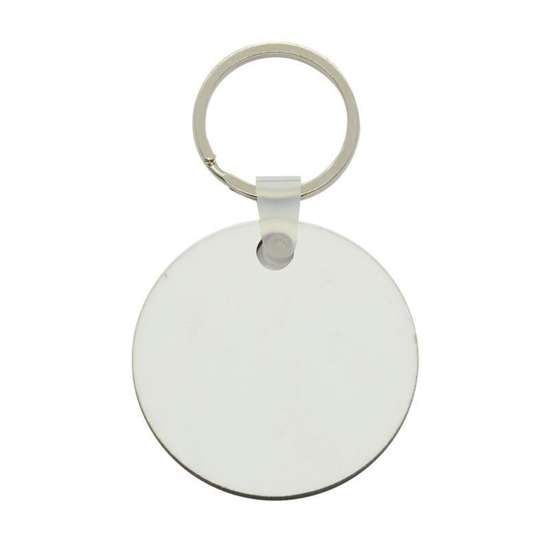 50 x Blank Sublimation MDF Round Keyrings 5cm