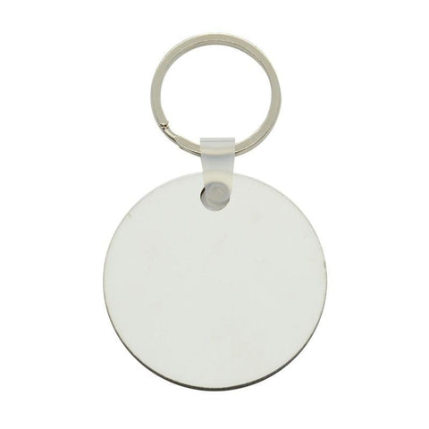 100 x Blank Sublimation MDF Round Key Rings 5cm