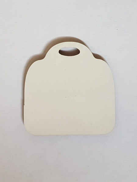 25 x Blank Sublimation MDF Keyrings Luggage Tag