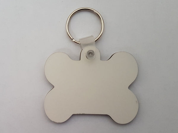 25 x Blank Sublimation MDF Key Rings Pet Tag