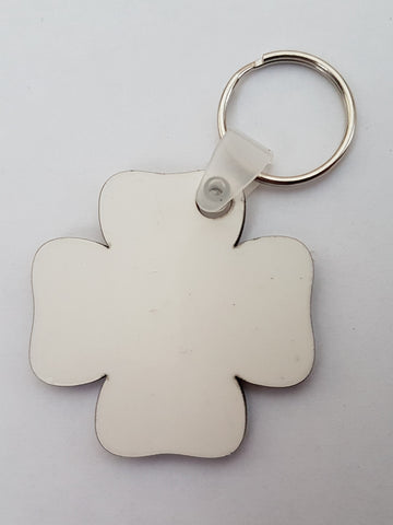 25 x Blank Sublimation MDF Shamrock Key Ring
