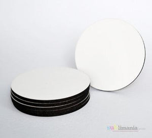 6 x MDF Blank Sublimation Round Coasters 9cm cork backed