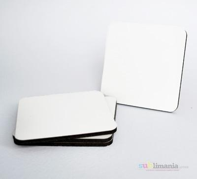 6 x MDF Blank Sublimation Coasters 9cm x 9cm Raw backed