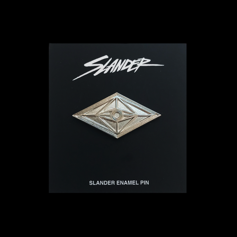 Slander All Seeing Eye Logo Embossed Metal Pin