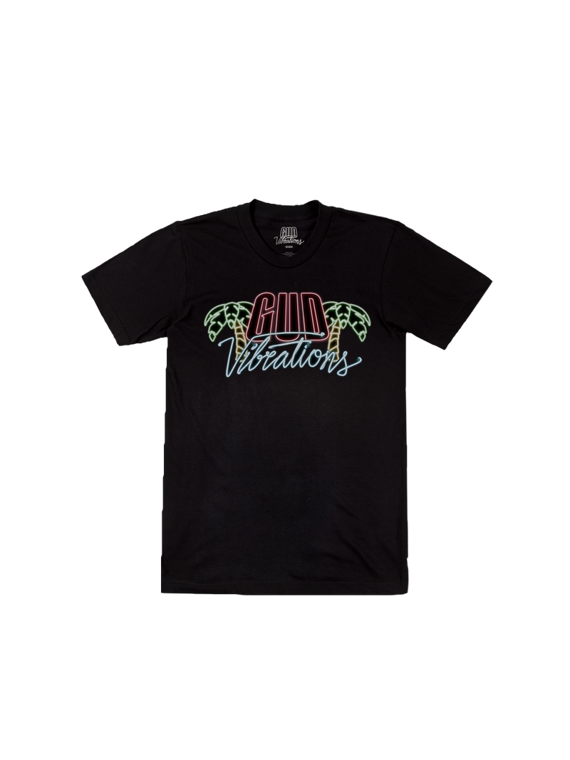 GUD Vibrations Neon Tee - Black