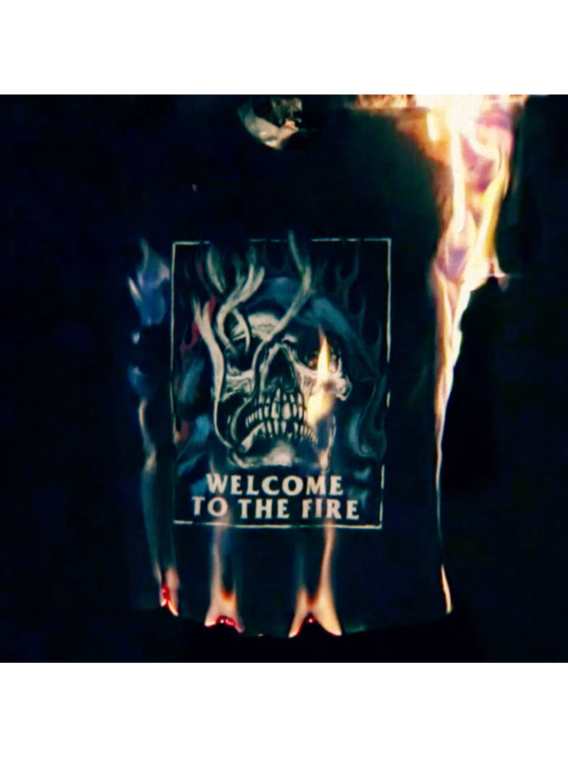 Welcome To The Fire Tee - Black
