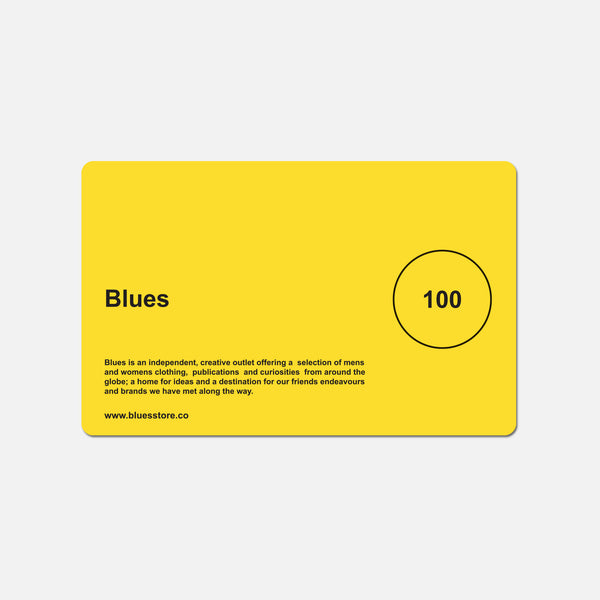 £100 Blues gift card blues store www.bluesstore.co