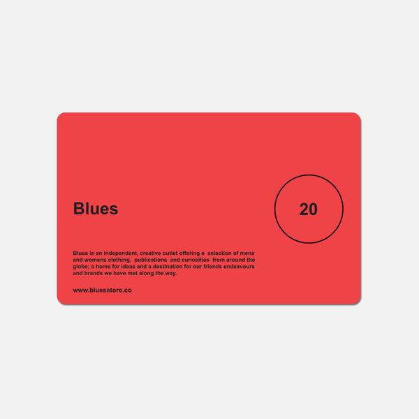 £20 Blues gift card blues store www.bluesstore.co
