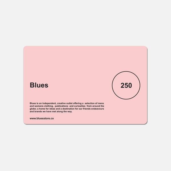 £250 Blues gift card blues store www.bluesstore.co