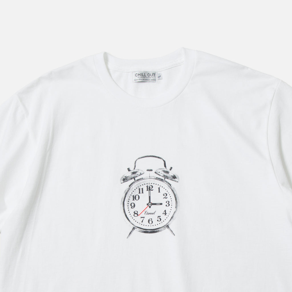 3AM Eternal T-shirt in white from the Chill Out Relaxing Clothing blues store www.bluesstore.co