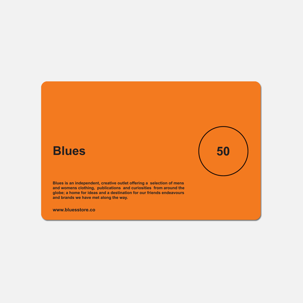 £50 Blues gift card blues store www.bluesstore.co