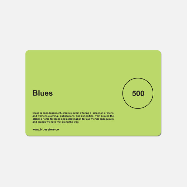 £500 Blues gift card blues store www.bluesstore.co