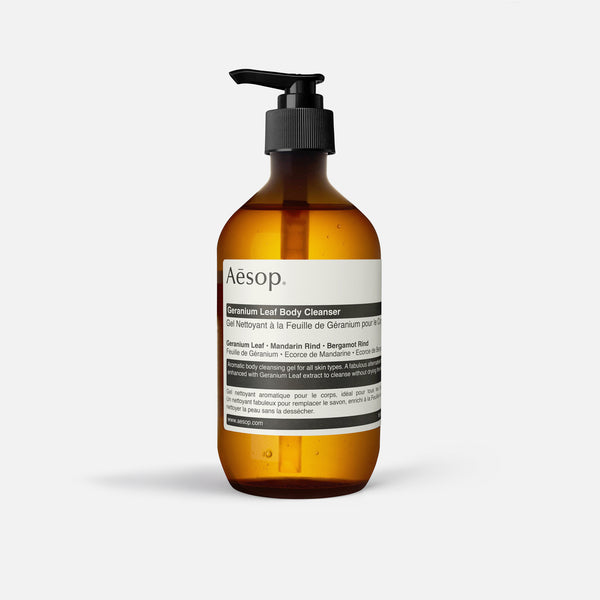 500ml Geranium Leaf Body Cleanser from Aesop blues store www.bluesstore.co