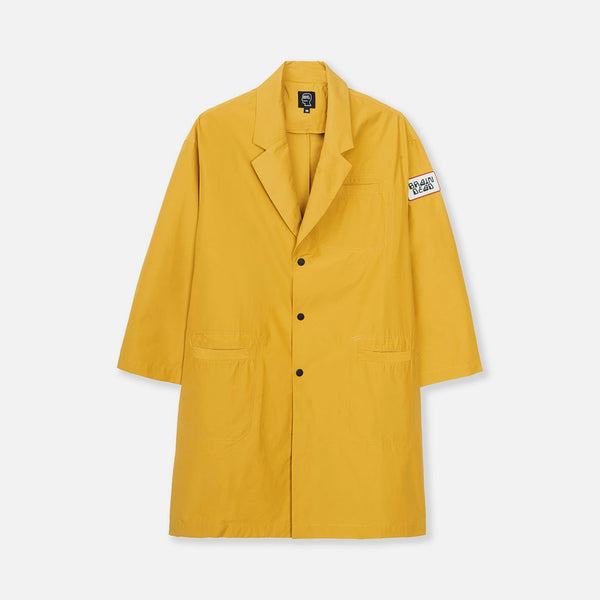 Laboratory Topcoat in Golden Yellow from Brain Dead Blues Store www.bluesstore.co