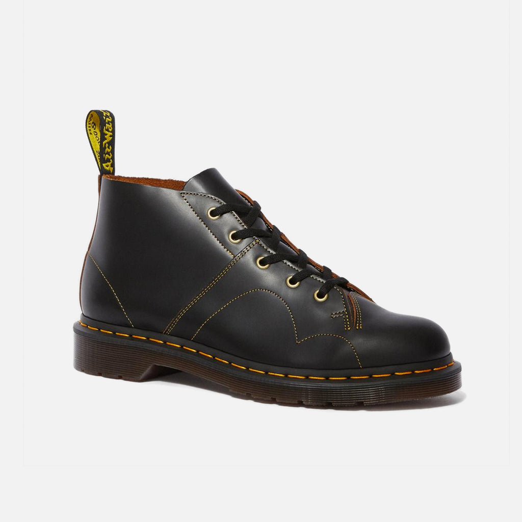 Dr Martens Church Monkey Boot Black Vintage Smooth Leather blues store www.bluesstore.co