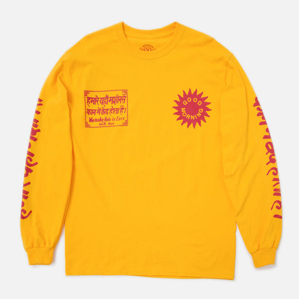 Silence Please LS Tee - Yellow