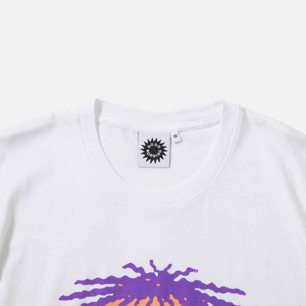 Apocalypse T-shirt in White from Good Morning Tapes blues store www.bluesstore.co