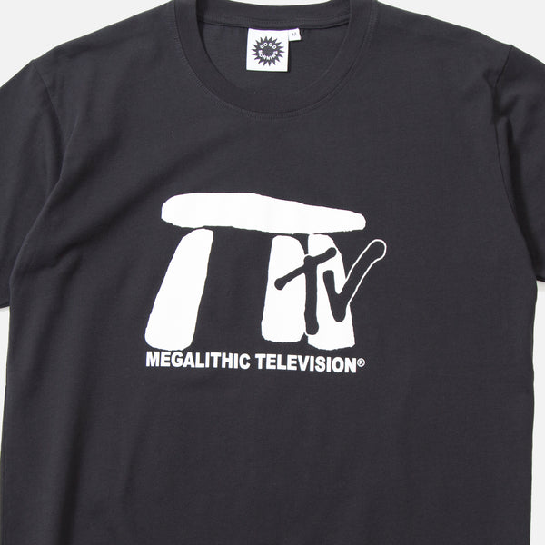 Megalithic T-shirt in Black from Good Morning Tapes blues store www.bluesstore.co
