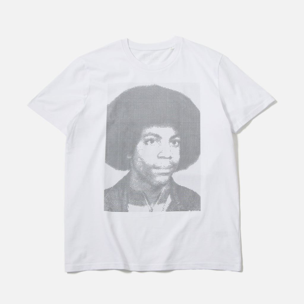 Prince Type t-shirt in white from IDEA books blues store www.bluesstore.co