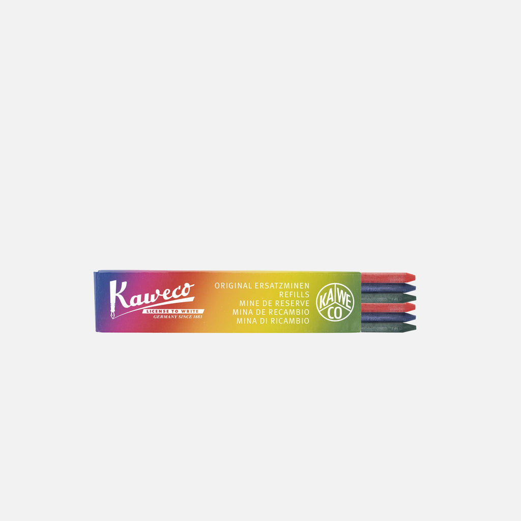 Kaweco Assorted Coloured Lead 3.2mm set of 6 blues store www.bluesstore.co