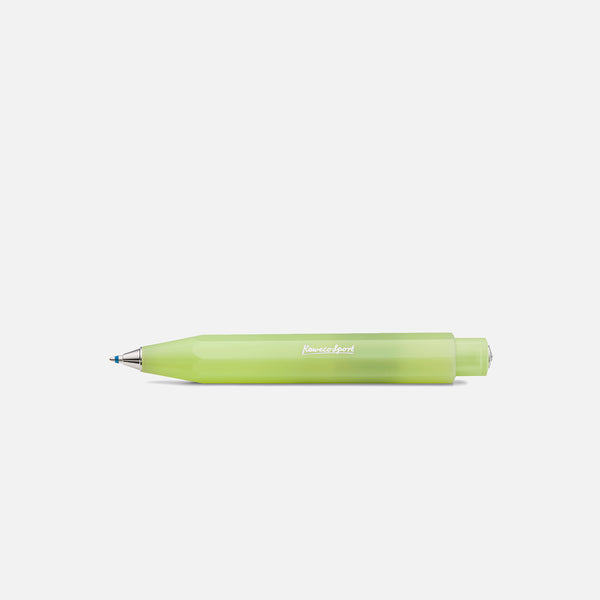 Kaweco Frosted Sport ballpoint pen in fine lime blues store www.bluesstore.co