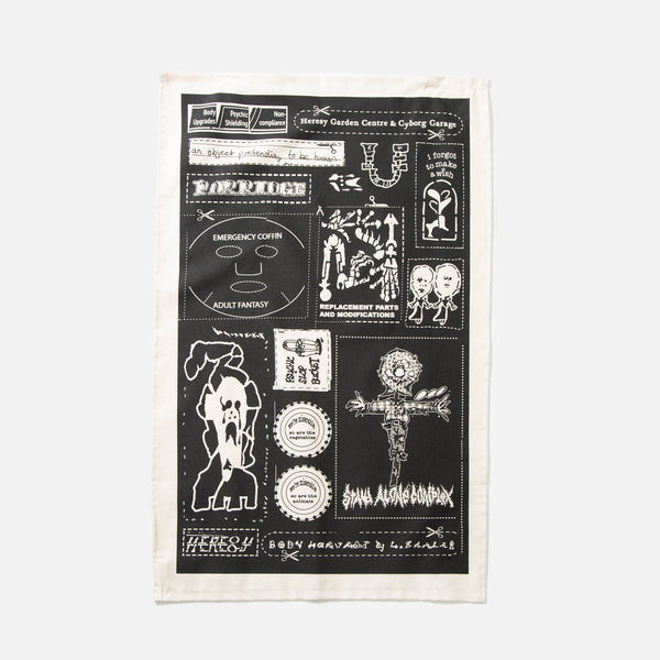 Leomi Sadler for Heresy Emergency Patches Tea Towel blues store www.bluesstore.co