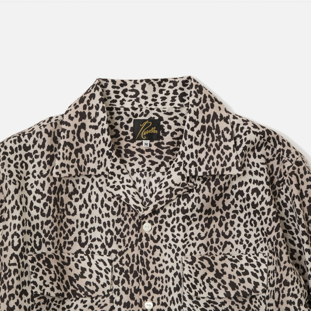 Cut-Off Bottom Classic Shirt with Leopard Print from Needles Spring / Summer 2020 collection blues store www.bluesstore.co