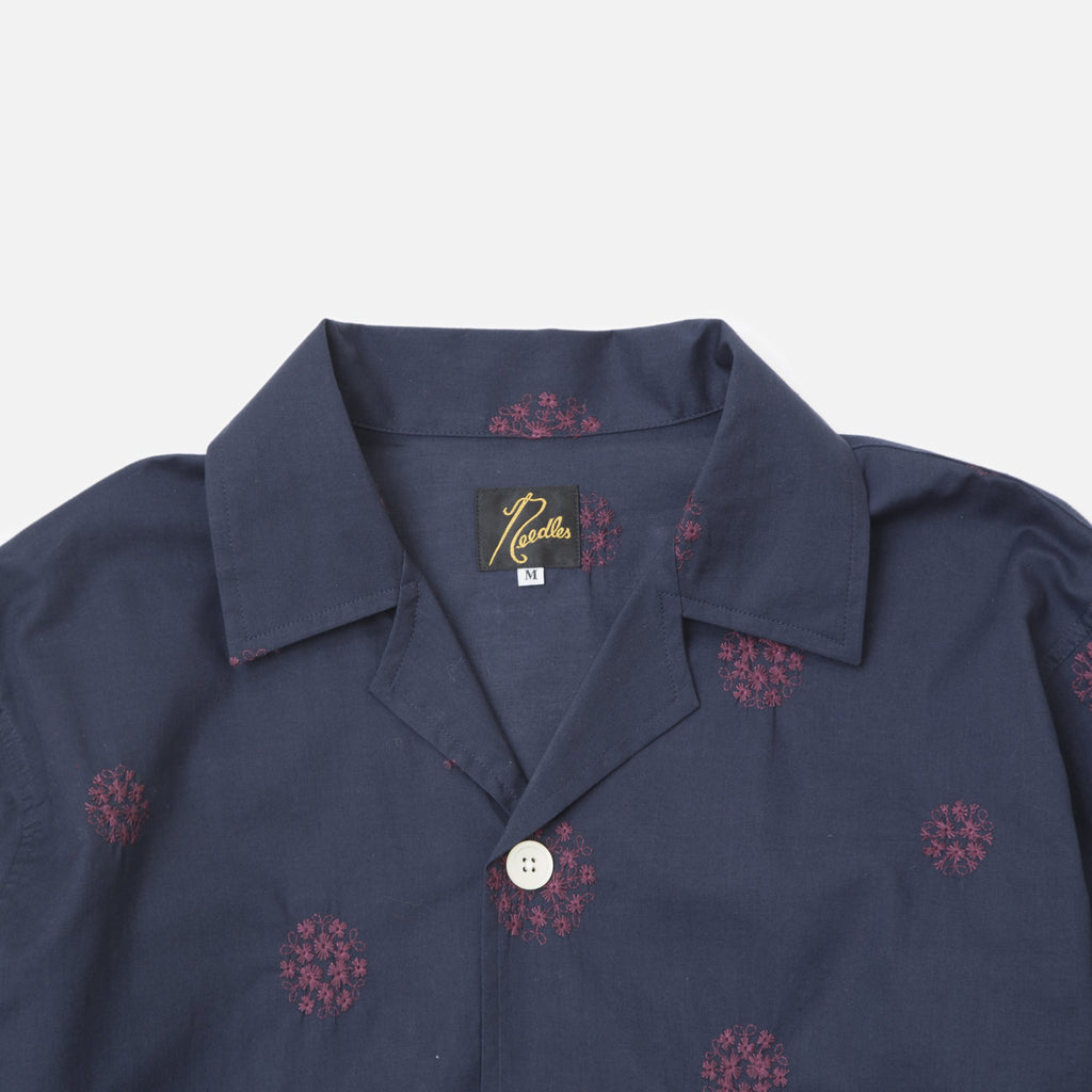 Navy Cabana Shirt with Rose Embroidery from Needles Spring / Summer 2020 collection blues store www.bluesstore.co