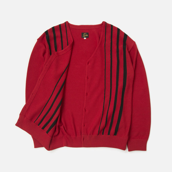 V Neck Cardigan Red from Needles Spring / Summer 2020 collection blues store www.bluesstore.co