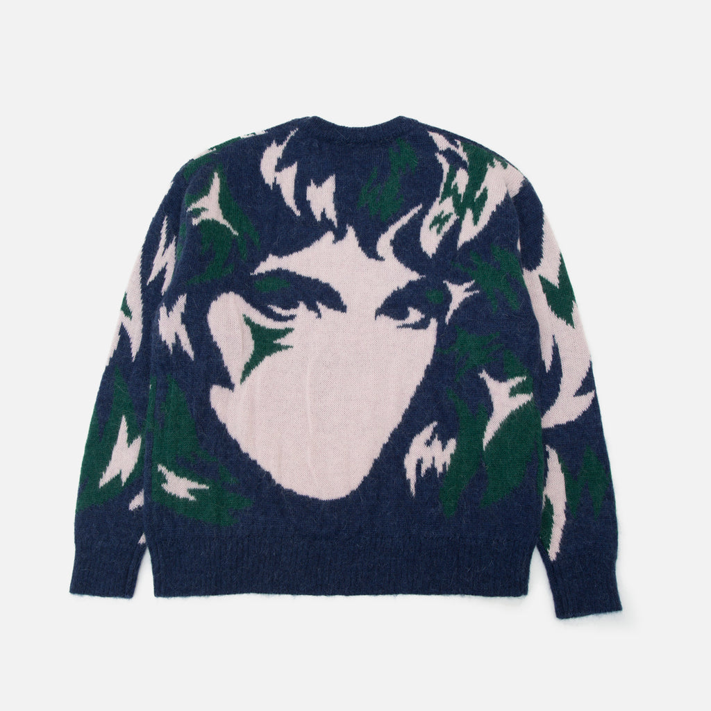 Handmaiden Camo Sweater in Navy from the spring / summer 2020 P.A.M (Perks & Mini) collection blues store www.bluesstore.co
