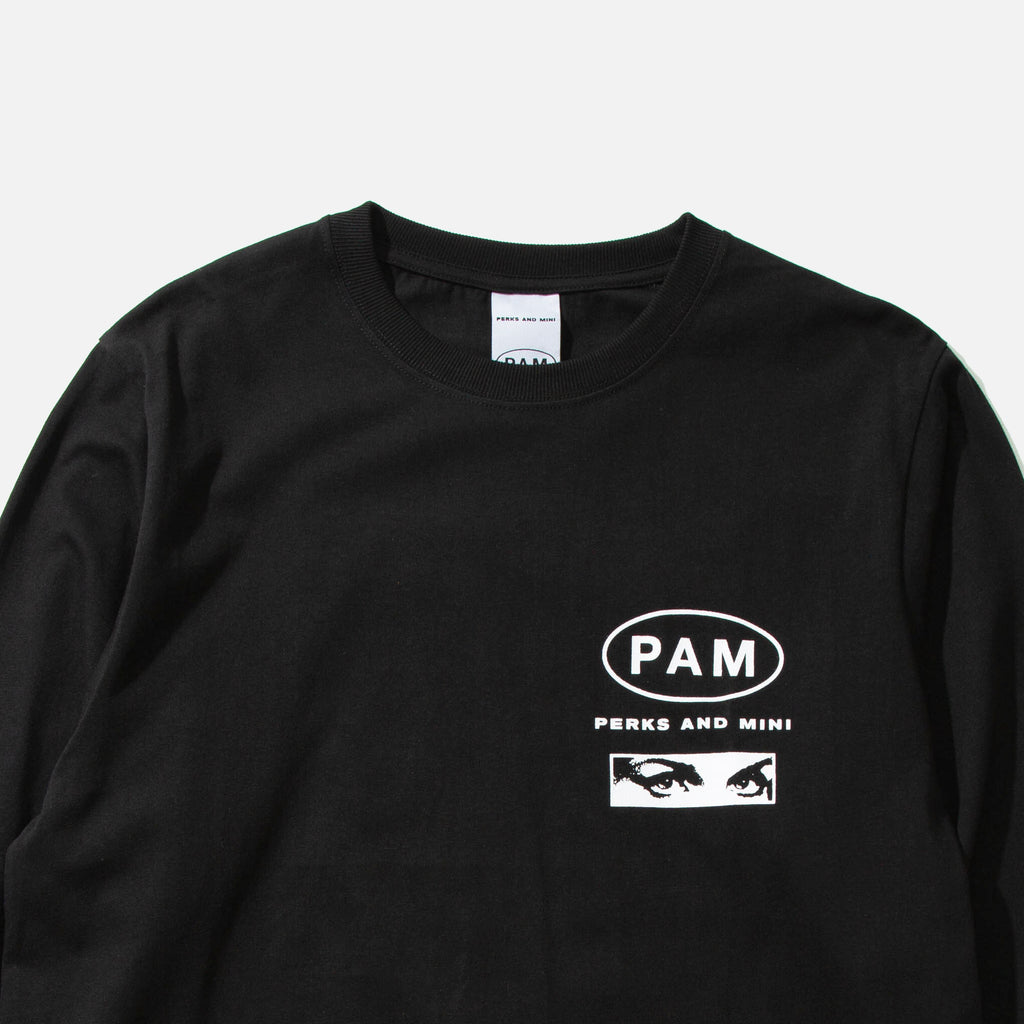 Tastes Like Ginseng Longsleeve T-shirt in Black from P.A.M (Perks & Mini) Nu Age collection blues store www.bluesstore.co