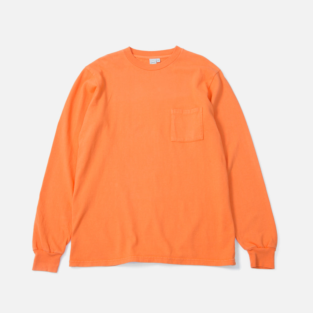 Paa Longsleeve Pocket T-shirt in Blaze Orange blues store www.bluesstore.co