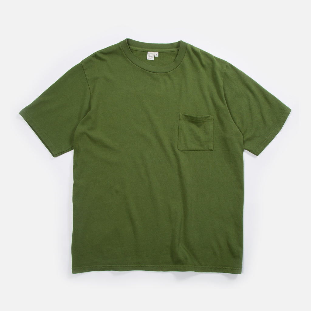 Paa Short Sleeve Pocket T-Shirt in Moss Blues Store