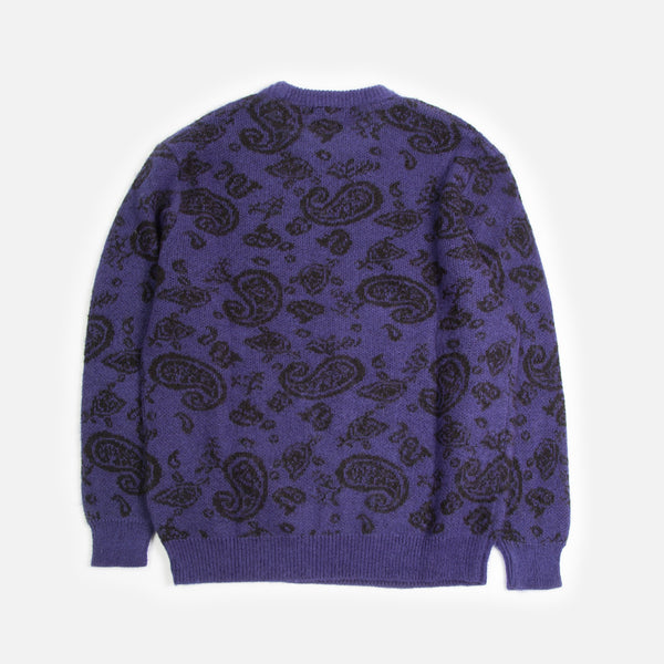Paisley Knit Jumper in Purple from Aries Spring / Summer 2020 collection blues store www.bluesstore.co