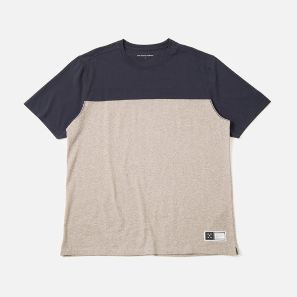 Fivestar T-shirt in Navy / Heather Grey from the spring / summer Pop Trading Company collection blues store www.bluesstore.co
