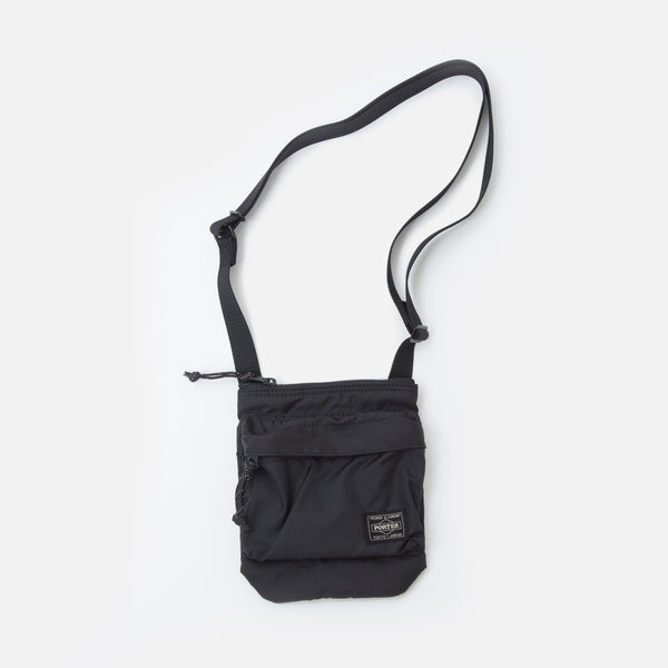 Force Shoulder Pouch from Porter Yoshida in Black Blues Store