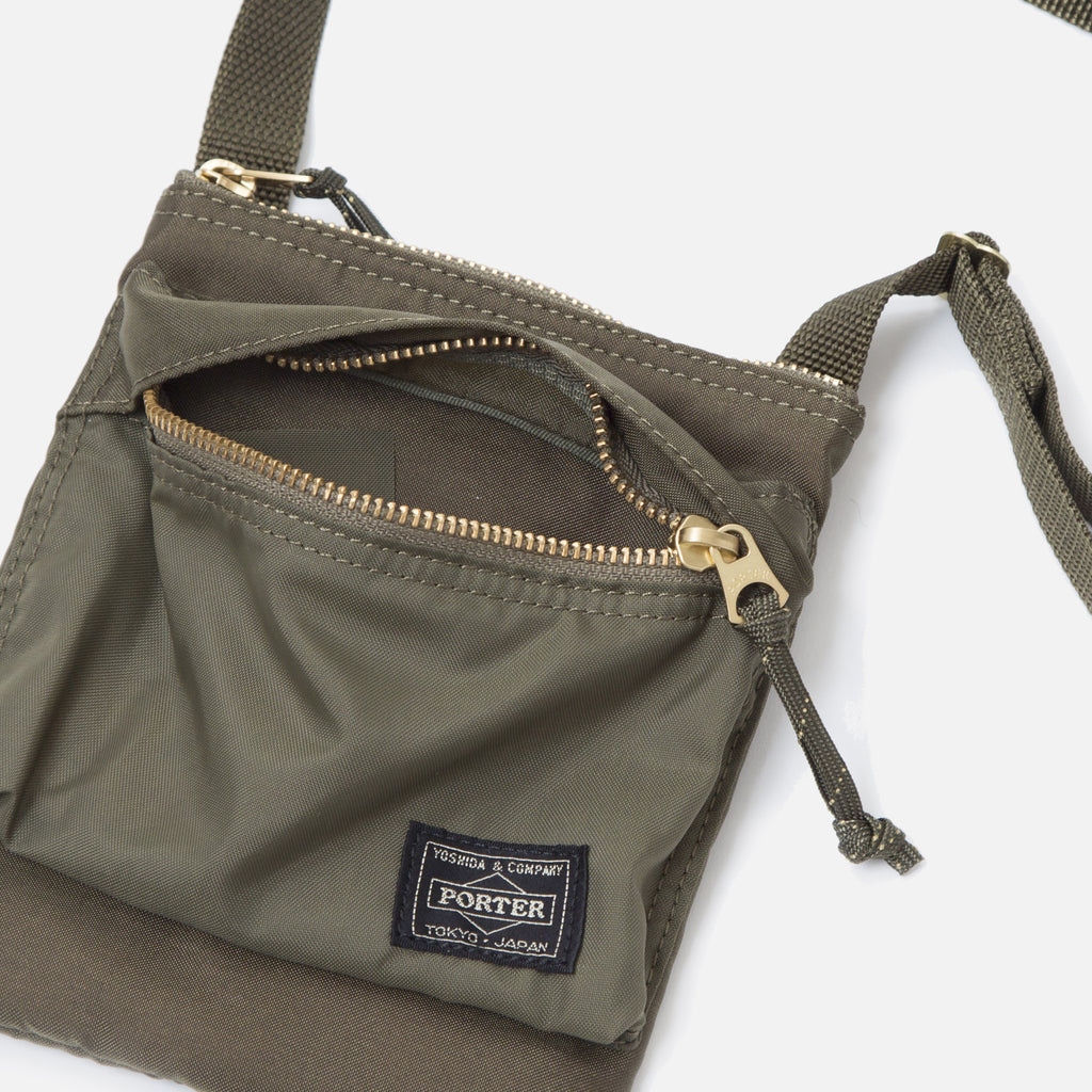 Force Shoulder Pouch from Porter Yoshida in Olive Drab Blues Store