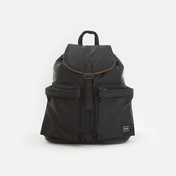 Tanker Ruck Sack with pockets from Porter Yoshida in Black Blues Store