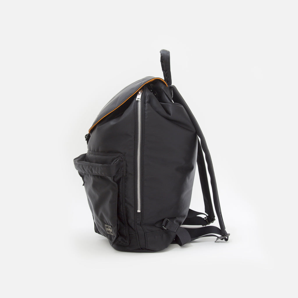 Tanker Ruck Sack with pockets from Porter Yoshida in Black Blues Store www.bluesstore.co