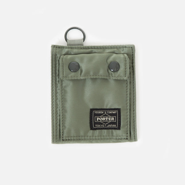 Tanker Wallet B from Porter Yoshida in Sage Green Blues Store